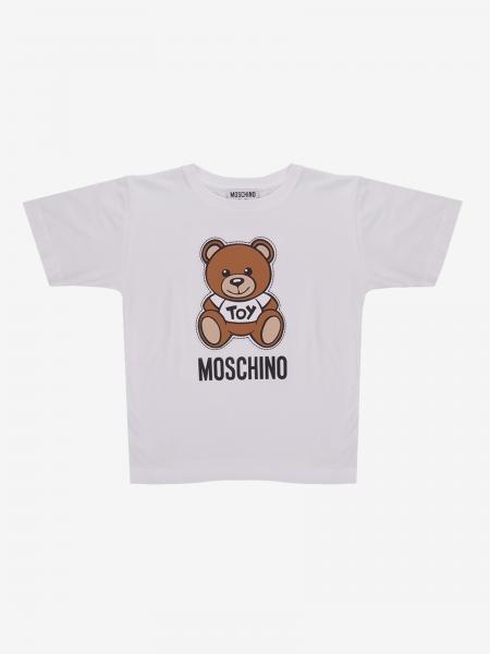 Moschino Kid 泰迪熊印花短袖T恤