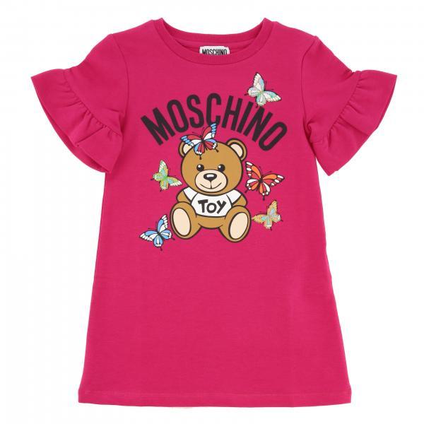 Abito Moschino Kid con stampa teddy e farfalle