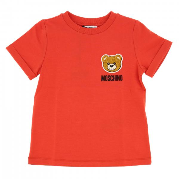 T-shirt Moschino Kid a maniche corte con patch teddy