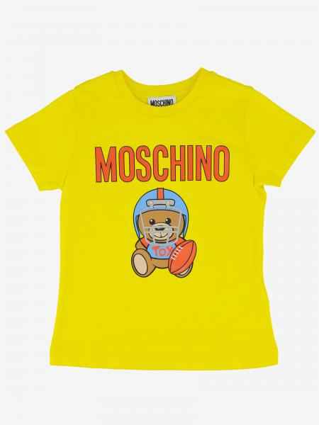 T-shirt Moschino Kid con stampa teddy rugby