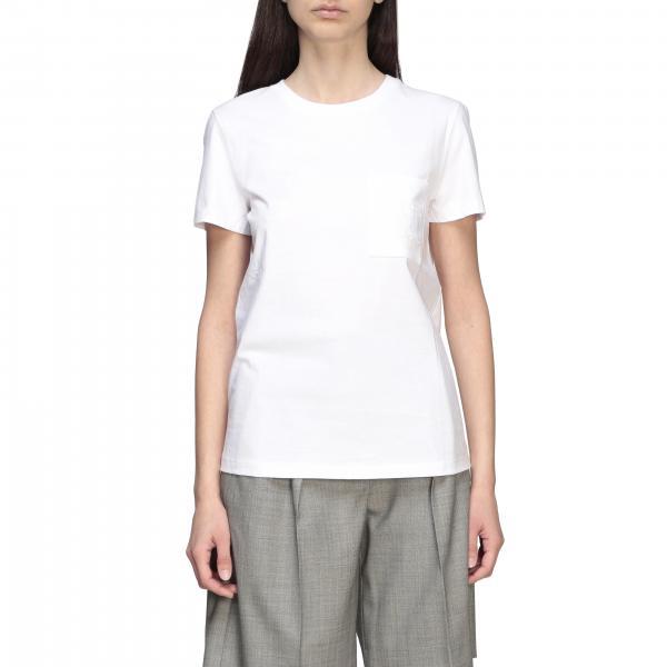Max Mara Vicario T-Shirt mit Rundhalsausschnitt und Monogramm