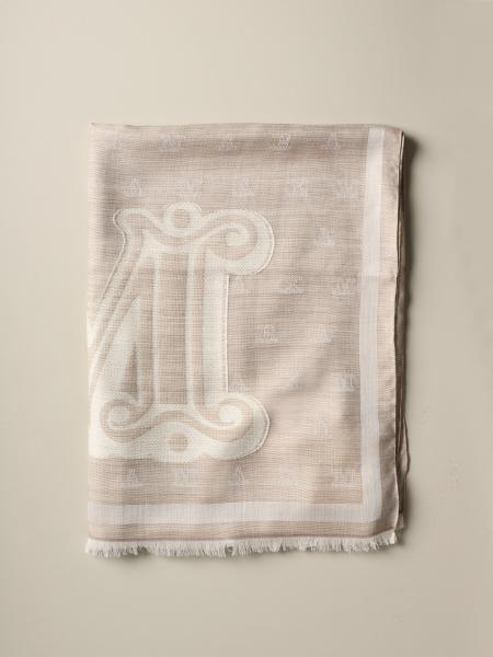 Max Mara Liuto scarf in wool and silk with logo