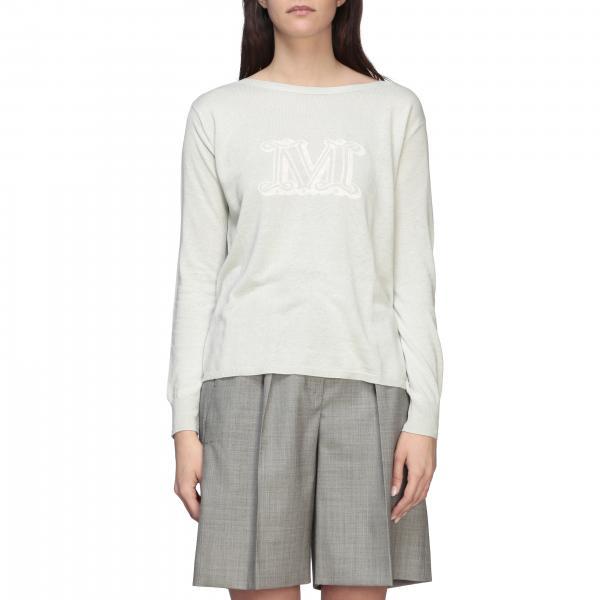 Max Mara Salice Shirt aus Seide und Leinen mit Logo