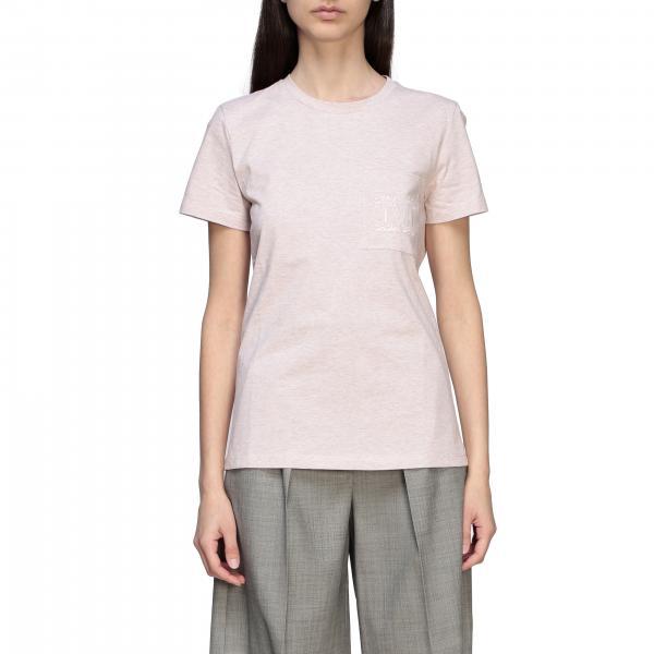 Joyce Max Mara T-Shirt mit Rundhalsausschnitt und Monogramm