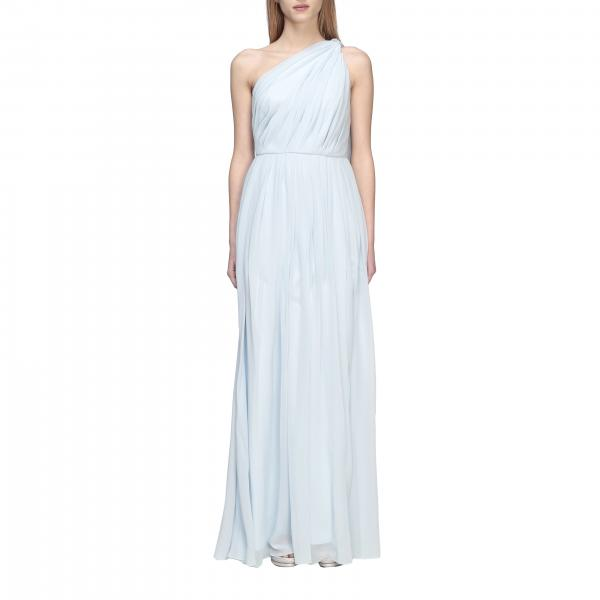 Max Mara Berger long one-shoulder chiffon dress