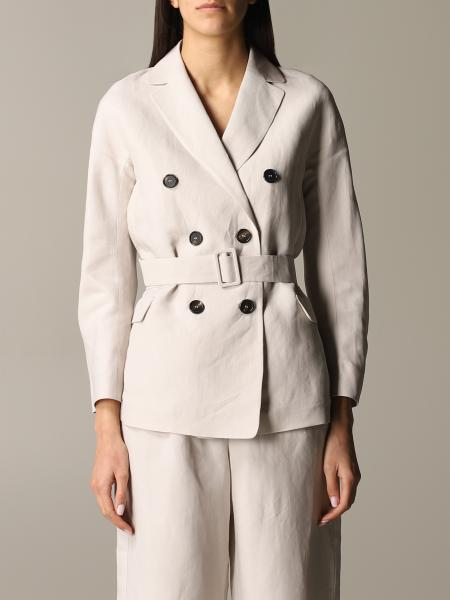 Max Mara Oronte S double-breasted jacket in blend linen