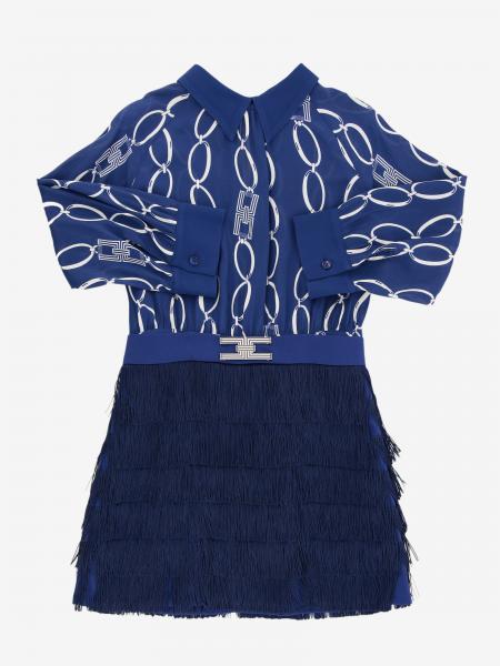 Elisabetta Franchi logo 流苏装饰连衣裙