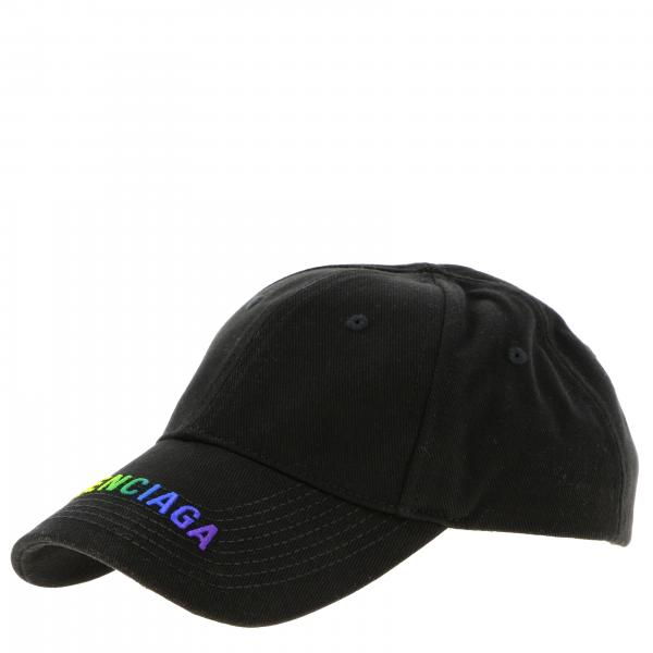 Balenciaga cotton baseball cap with rainbow logo