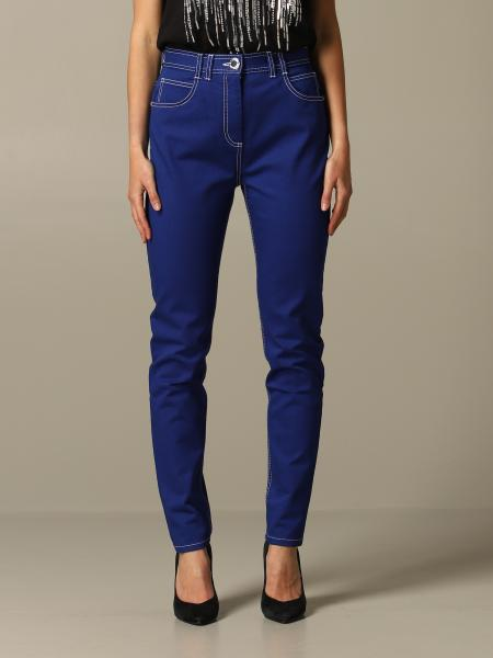 Balmain trousers with high waist with logo