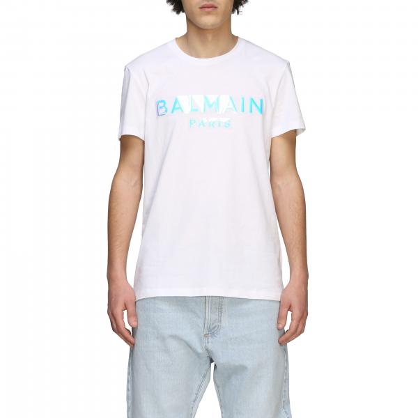 Balmain T-shirt with iridescent logo