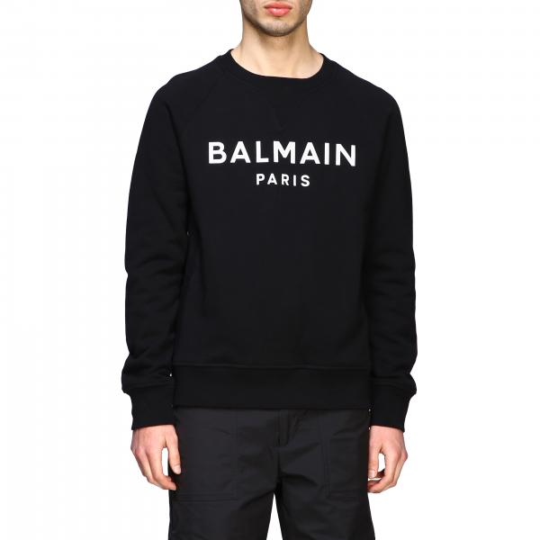 Balmain crewneck sweatshirt with big fluo logo