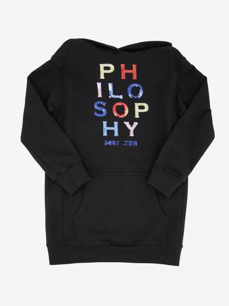 Philosophy sweatshirt dress by Lorenzo Serafini with logo print