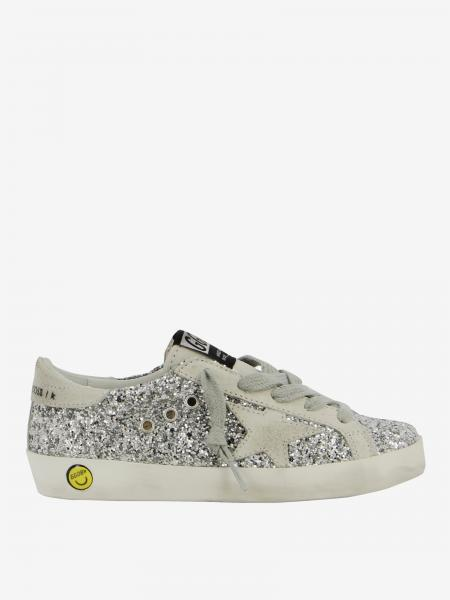 Sneakers Superstar Golden Goose in camoscio e glitter