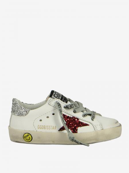 Sneakers Superstar Golden Goose in pelle con stella glitter