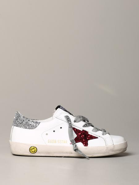 Golden Goose leather sneakers with glitter star
