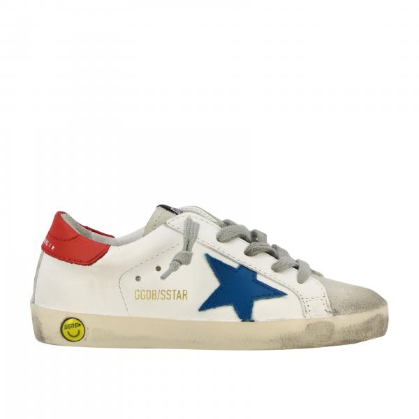 Sneakers Superstar Golden Goose in pelle e camoscio con stella