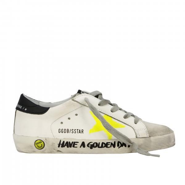 Golden Goose Superstar 星型装饰真皮运动鞋