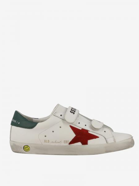 Sneakers Superstar old school Golden Goose in pelle