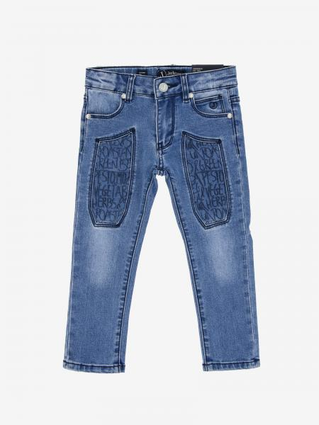 Jeans Jeckerson in denim con toppe a fantasia
