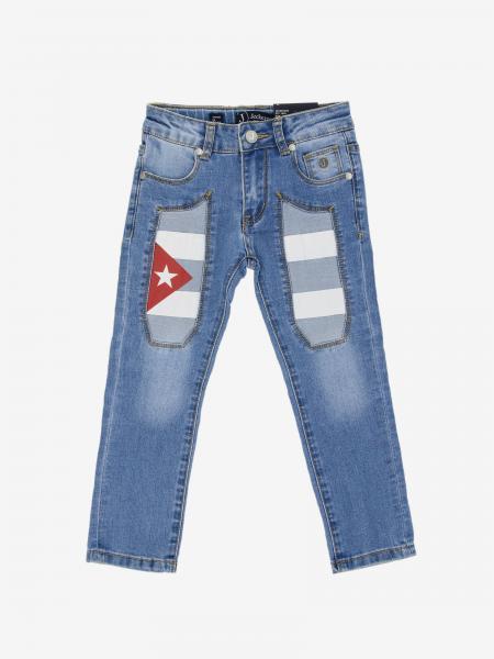 Jeans en denim Jeckerson avec écussons drapeau Cuba