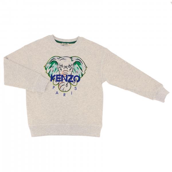 Kenzo Junior crewneck sweatshirt with big embroidered elephant