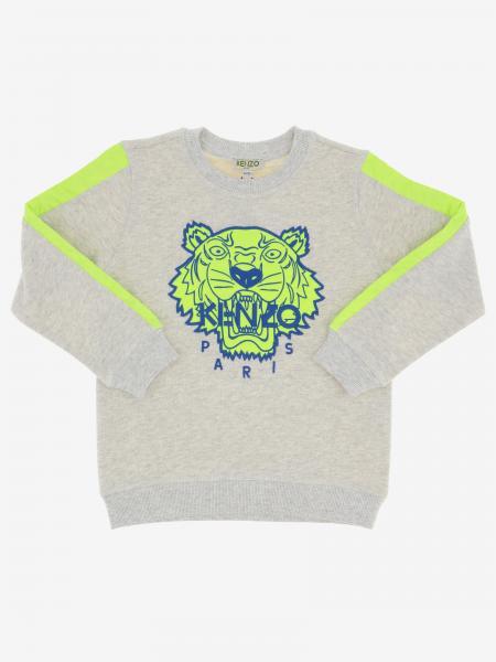 Kenzo Junior Sweatshirt mit Rundhalsausschnitt und Tiger Kenzo Paris Logo