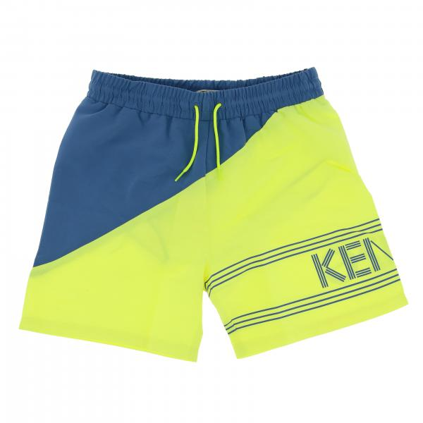 Kenzo Junior boxer swimsuit with drawstring and logo