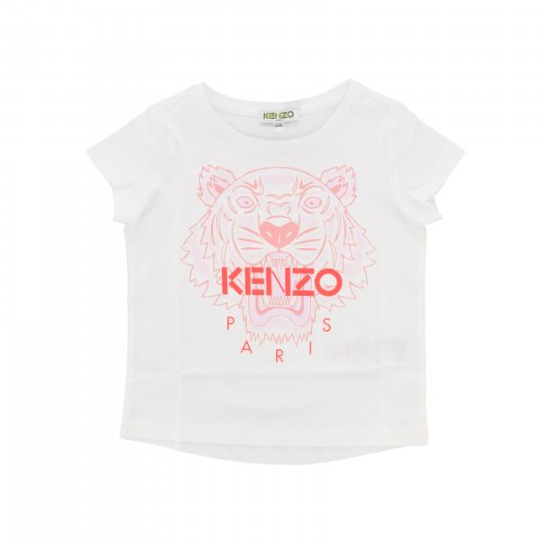 Kenzo Junior short-sleeved T-shirt with Tiger Kenzo Paris logo
