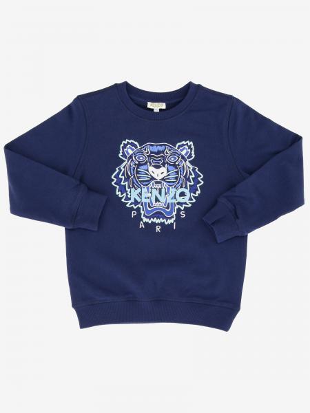 Felpa Kenzo Junior a girocollo con logo Tiger Kenzo Paris