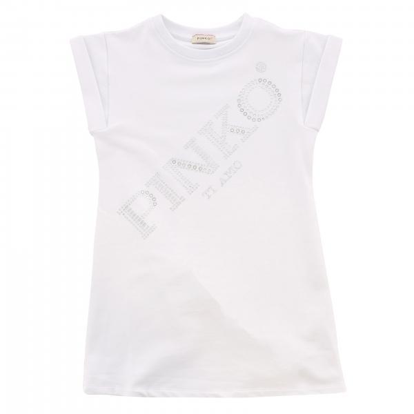Pinko dress with big rhinestone logo