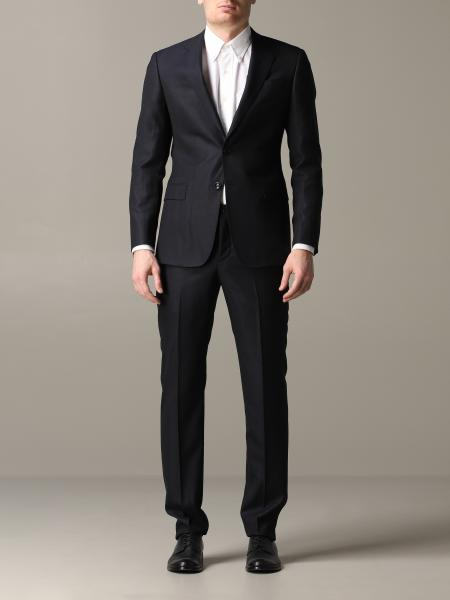 Giorgio Armani regular fit wool and silk suit