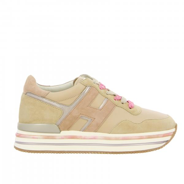 Sneakers 515 platform Hogan in pelle e camoscio con big H