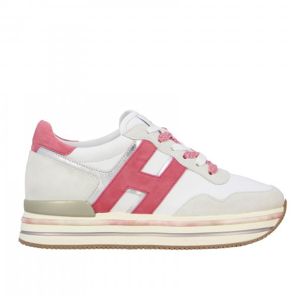 Hogan 515 platform sneakers in leather and suede with big H