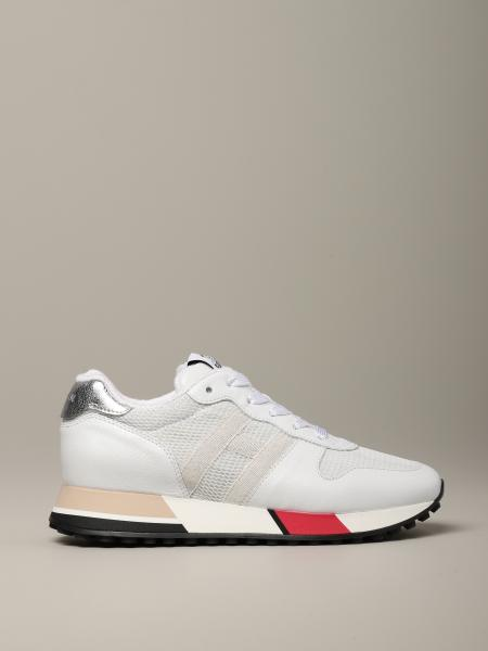 Hogan running sneakers in leather and mesh