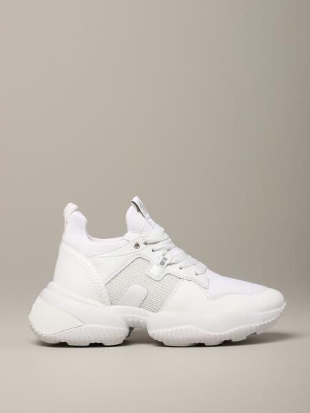 Interactive Hogan sneakers in leather and neoprene