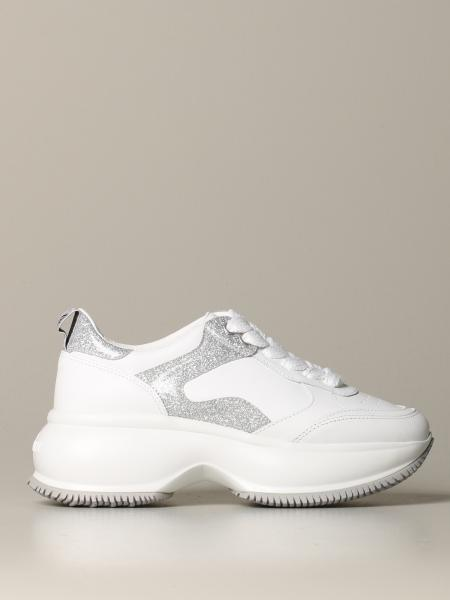 I Active Hogan sneakers in leather and glitter