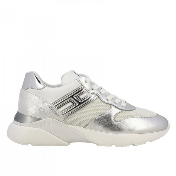 Sneakers Active One 385 Hogan en cuir laminé et filet pailleté