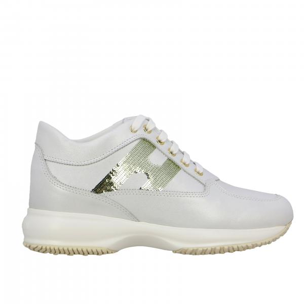 Sneakers Interactive Hogan in pelle con H di paillettes