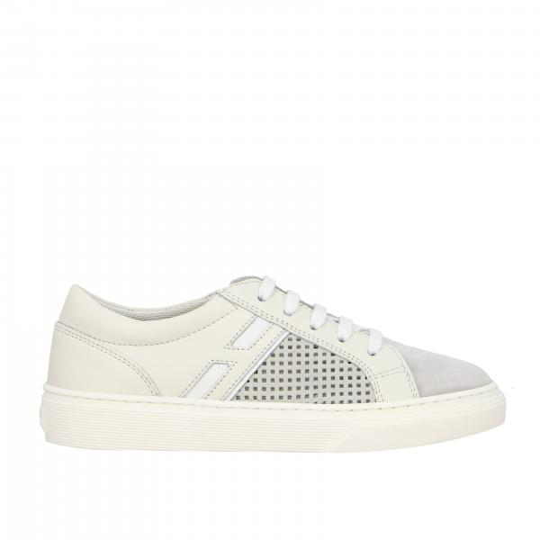 340 Hogan sneakers in leather and perforated suede with big H