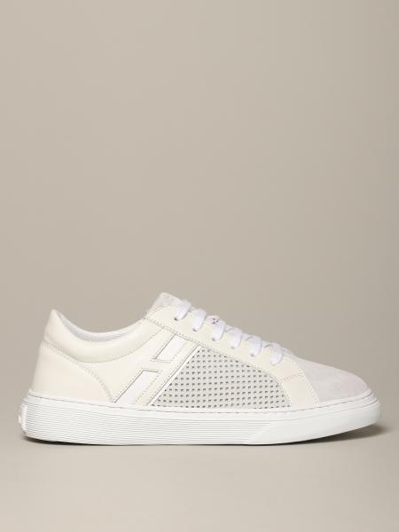 Hogan sneakers in leather and perforated suede