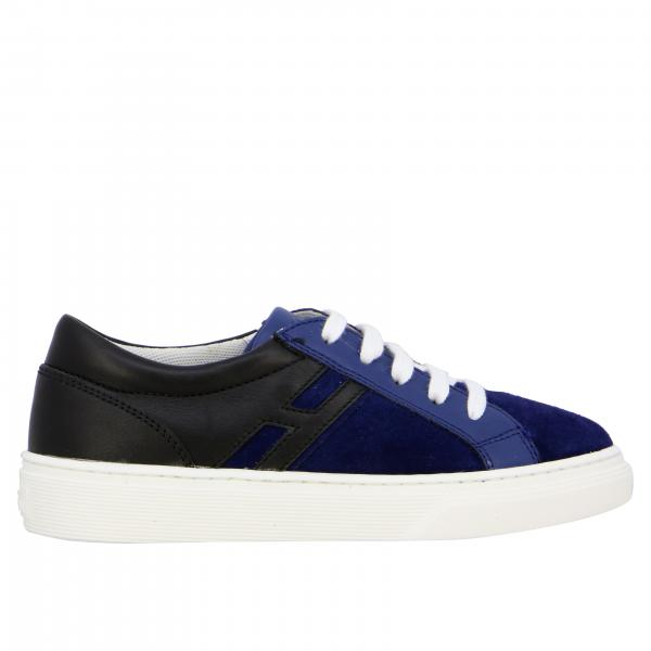 Hogan sneakers in suede and leather with elongated H