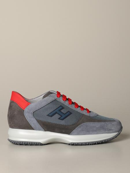 New interactive Hogan sneakers in suede and mesh with flock H