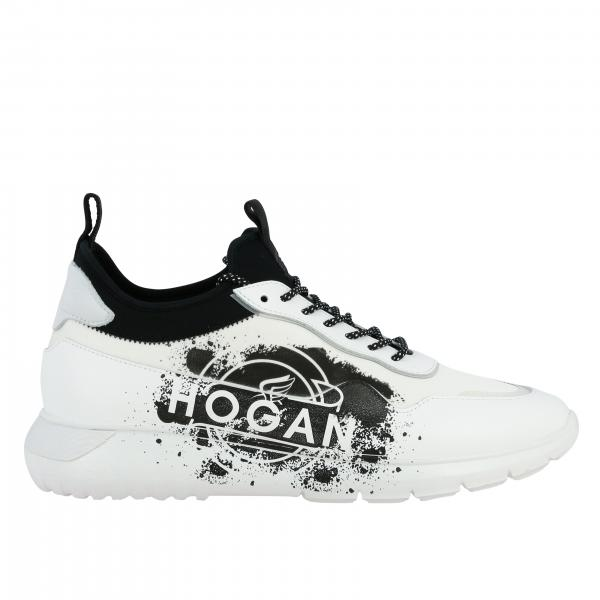 Hogan Interactive 3 sneakers in leather and nylon with maxi logo