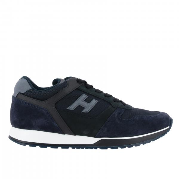 Baskets 312 running Hogan en filet daim et cuir avec h flock
