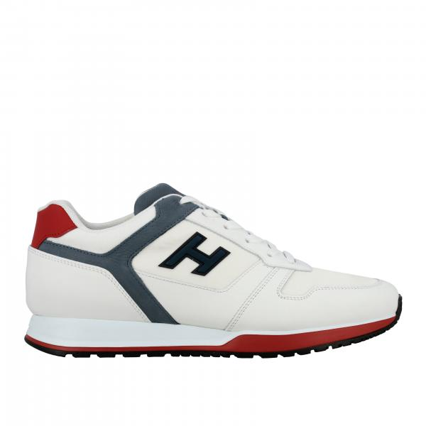 Hogan 321 running sneakers in nylon and leather with flock h