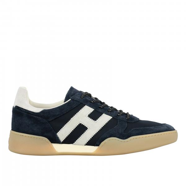 Hogan retro running sneakers in suede and nylon