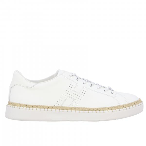 420 Hogan leather sneakers with perforated h