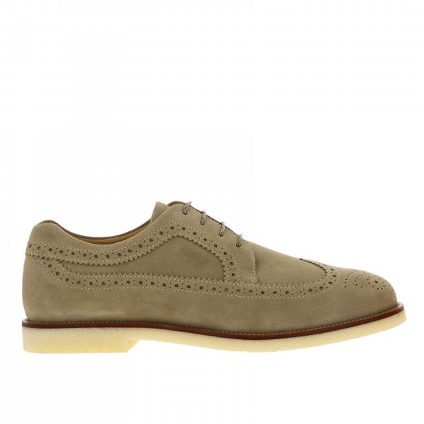Derby Business Casual Hogan in suede with brogue motif
