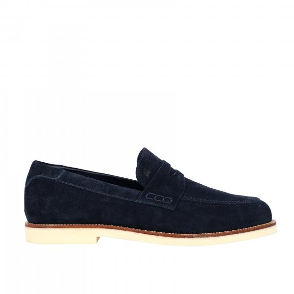 Business Casual Hogan suede loafer with brogue motif