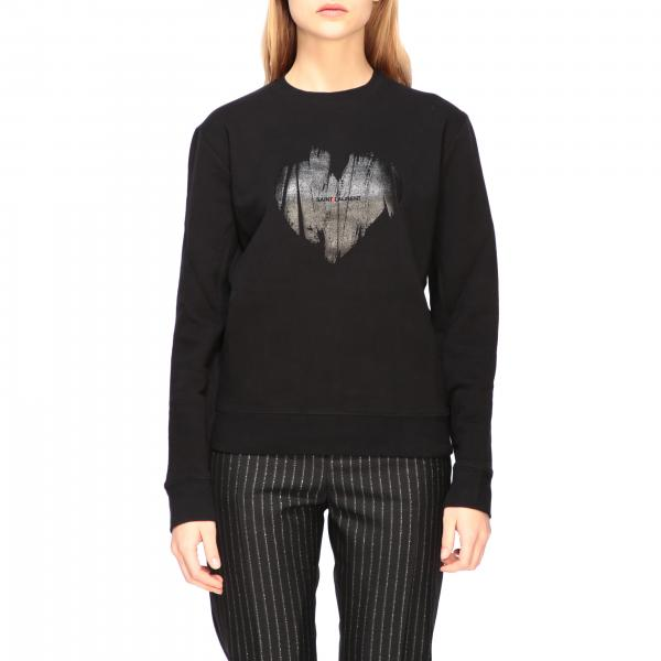 Saint Laurent sweatshirt with heart print and logo